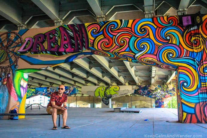 These murals on the pillars of Gardiner Expressway is a brilliant idea of making urban spaces into creative pursuits.