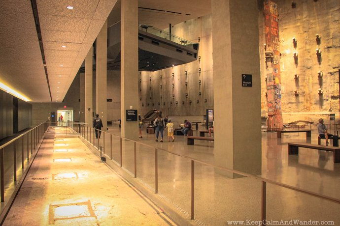 Inside the 911 Memorial Museum in New York.