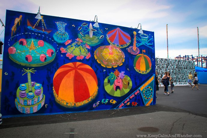 Murals at Coney island, Brooklyn, New York.