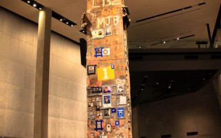 Last Column of the Twin Towers inside the 911 Memorial Museum in New York City.