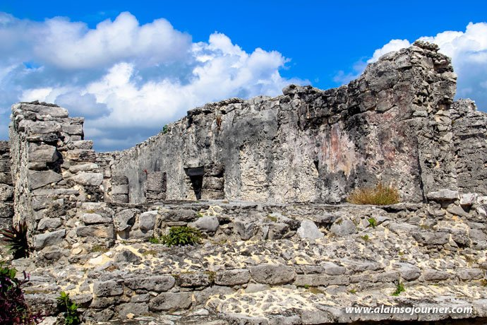 Tulum Ruins aka Tulum Ruinas in Yucatan, Mexico.