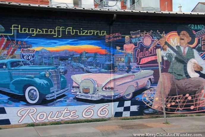 Mural in Flagstaff, Arizona.