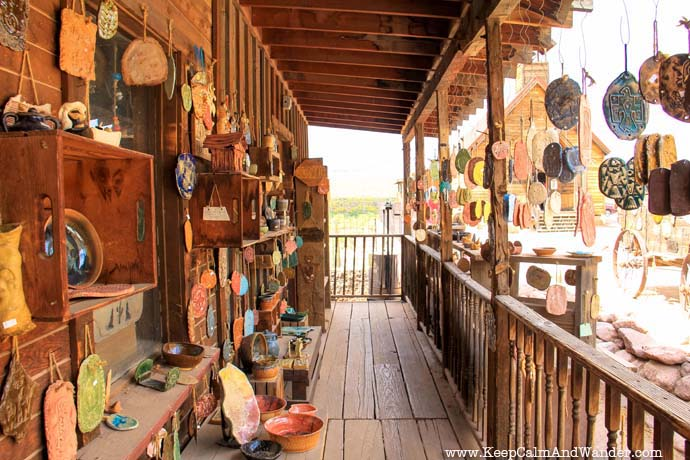 Go shopping inside Goldfield.