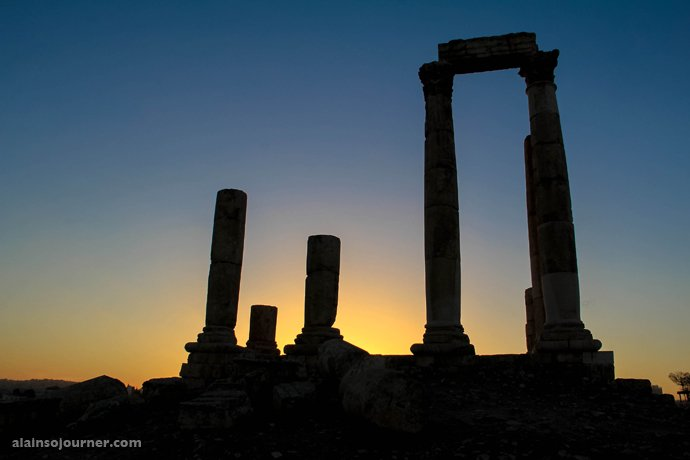 Citadel Hill Amman Sunset / Things to do in Amman.