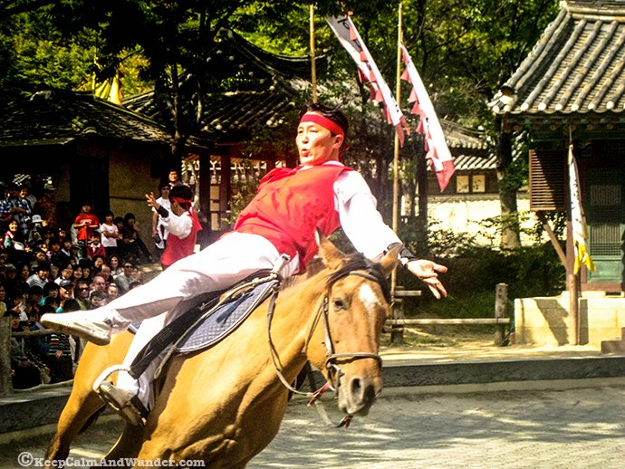 Equestrian Performance at Suwon Folk Village, Seoul, South Korea.