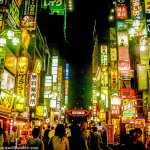 The Neon Lights of Kabukicho in Shinjuku