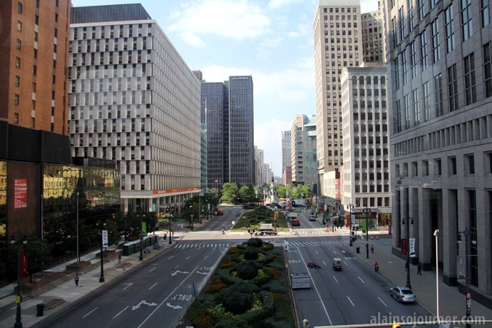 Detroit Downtown Street