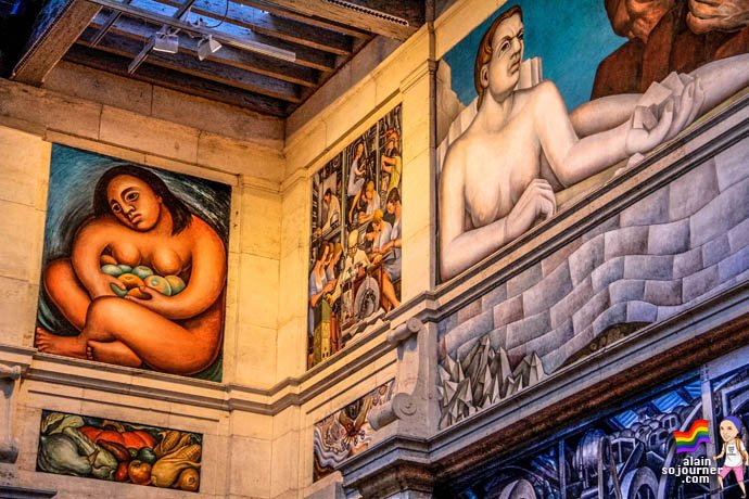 Diego Rivera Court Mural Detroit Institute of Arts DIA 17