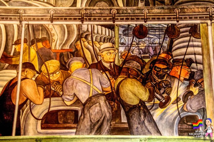 Diego Rivera Court Mural Detroit Institute of Arts DIA
