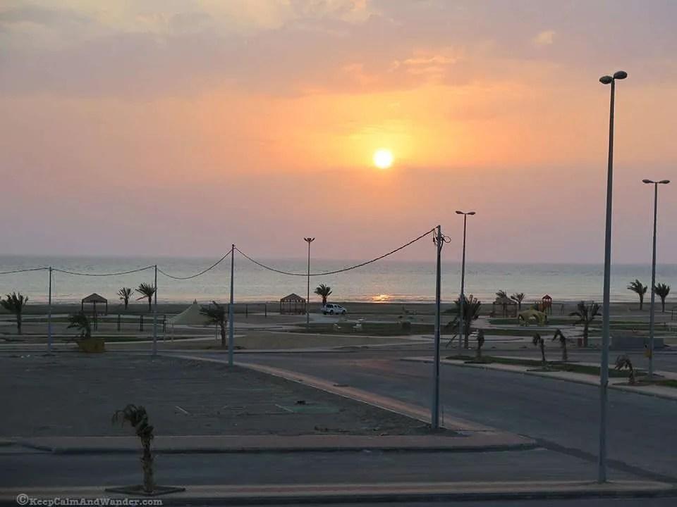 Sunset at the Red Sea (Saudi Arabia).