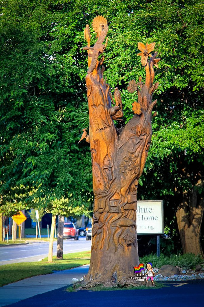 London tree sculptures