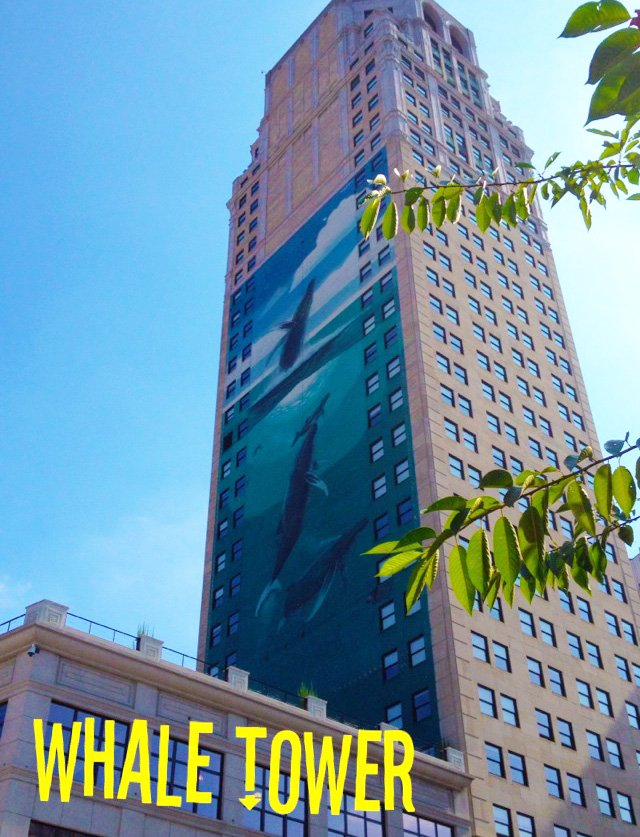 Public Art in Detroit Whale Tower