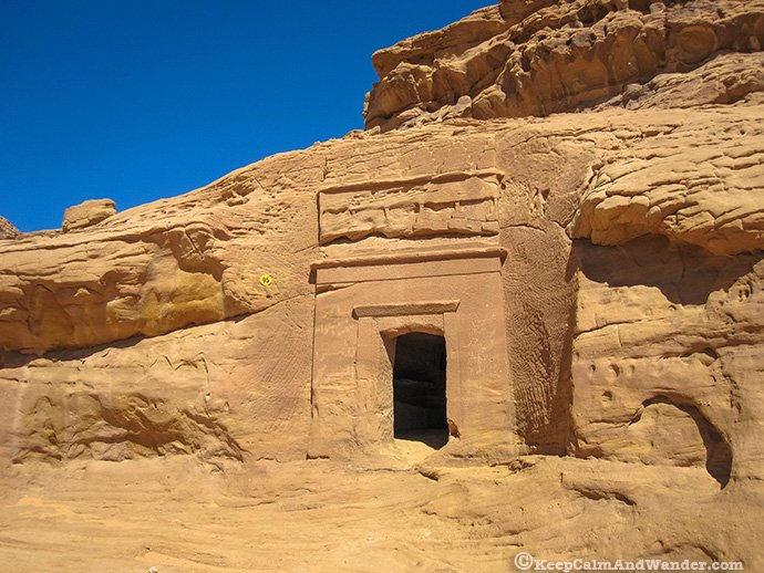 Qasr Al Saneh at Madain Saleh is an ancient Nabatean architectural marvel.