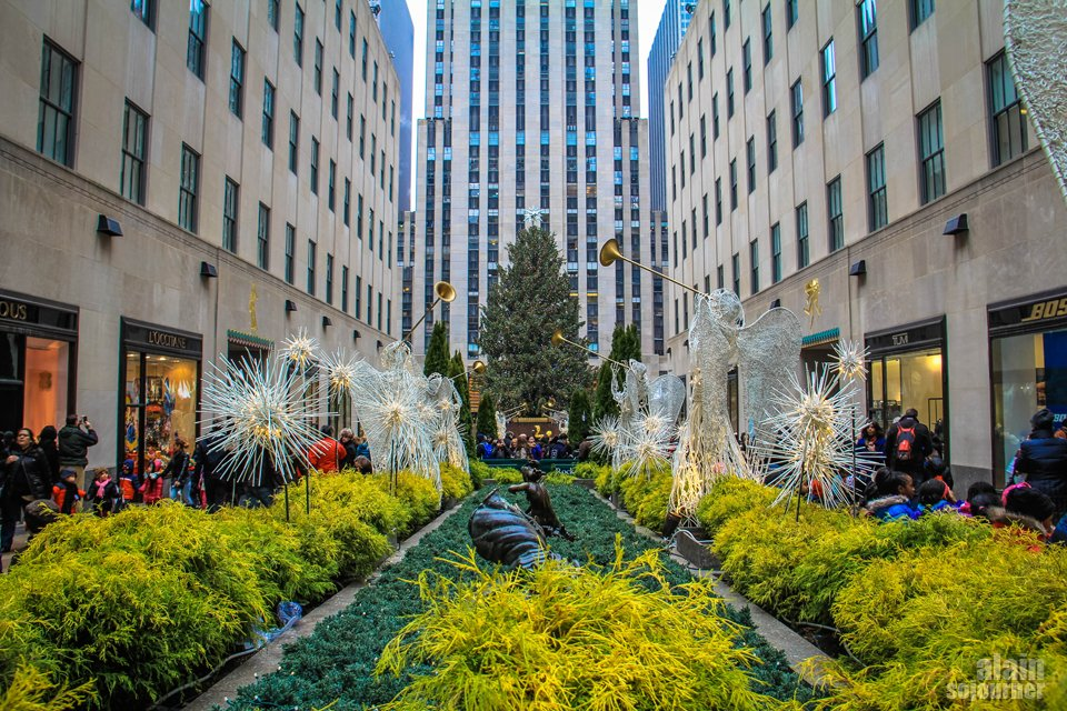 Christmas in Rockefeller Center.