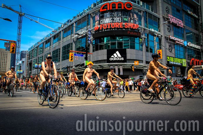 World Naked Bike Ride Toronto 2013 WNBR 5