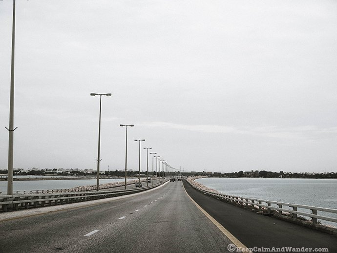King Fahd Causeway - the bridge that links Saudi Arabia and bahrain.