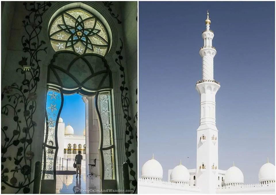 Sheikh Zayed Grand Mosque in Abu Dhabi, UAE.