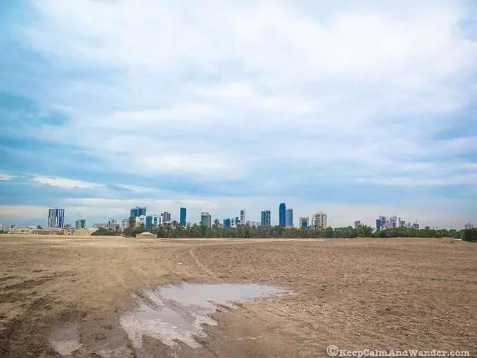 Bahrain - Manama Skyline from The Fort.