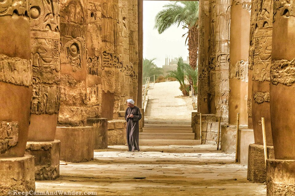 The Guards Karnak Temple in Luxor (Egypt)