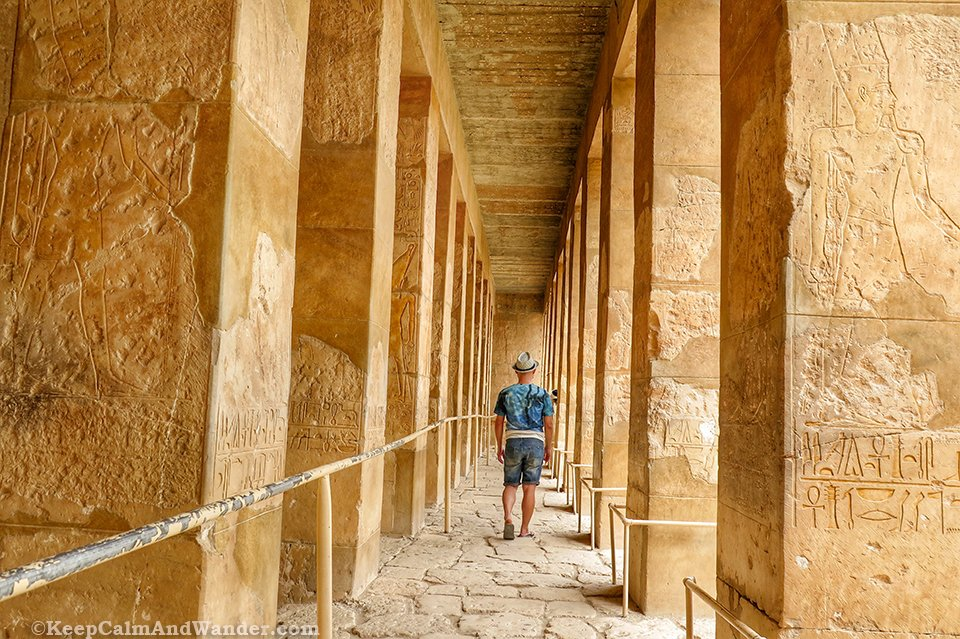 Hatshepsut Temple in Luxor (West Bank, Nile River).