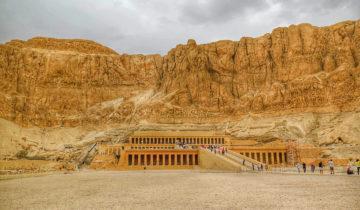 Hatshepsut Temple in Luxor (West Bank, Nile River).