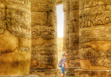 The Hypostyle Hall at Karnak Temple in Luxor, Egypt.