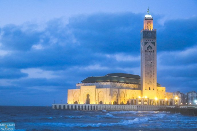 Hassan II Mosque By Night (Casablanca, Morocco).