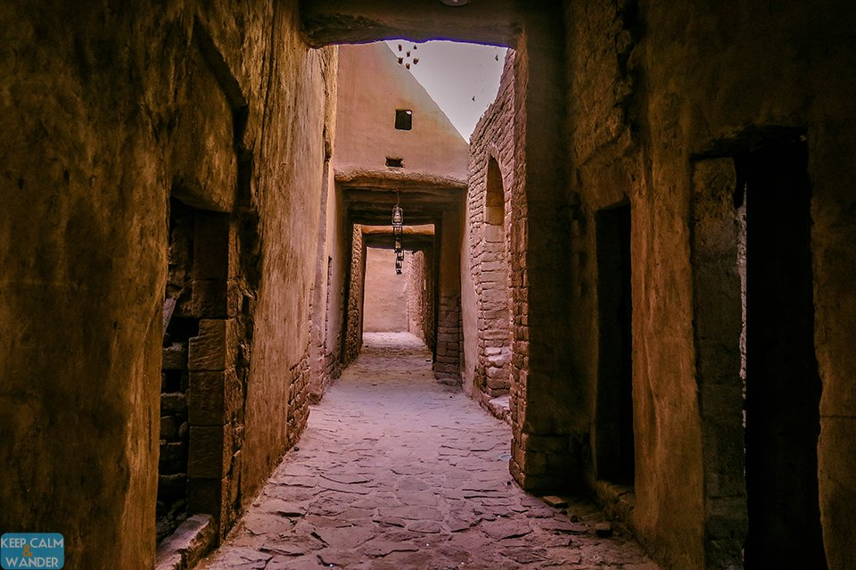 Inside the Al Ula's Old Town.