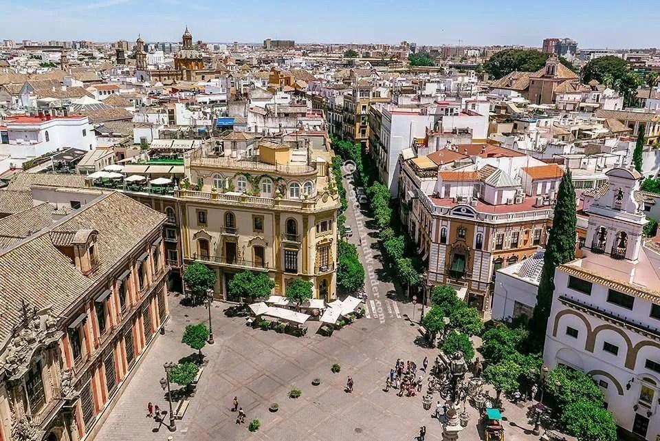 The City of Sevilla - View from La Giralda (Spain)
