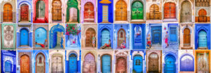 The Beautiful Doors of Morocco.