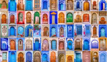 The Beautiful Doors of Morocco.