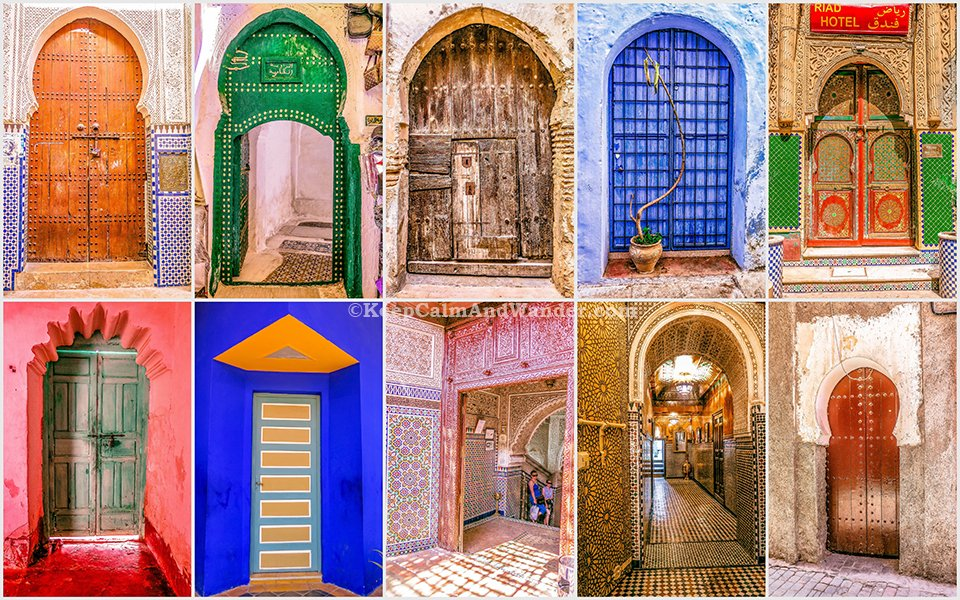 The Beautiful Doors in Morocco. & The Beautiful Doors of Morocco