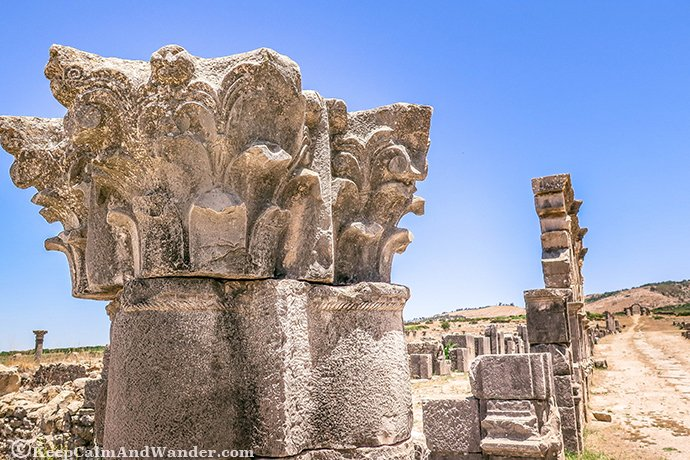 The Ruins of Volubilis in Morocco.