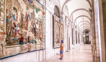 Don Quixote Tapestry inside the Royal Palace (Palacio Real) of Madrid (Spain).