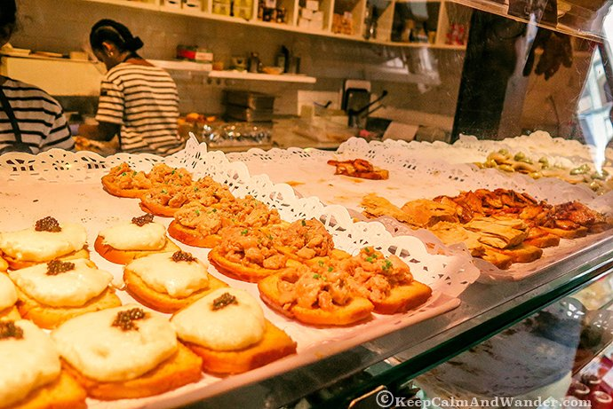 All the Glorious Food at Mercado San Miguel in Madrid, Spain.