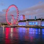 London Eye at Night is on Fire