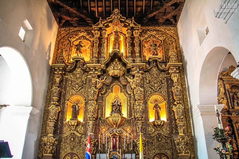Visit Remedios Cathedral Church made of gold altar