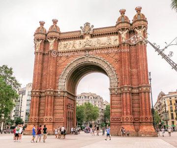 Arc de Triomf in Barcelona, Spain.