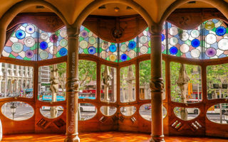 Casa Battlo known by the locals as The House of Bones is designed by Gaudi (Barcelona Spain).