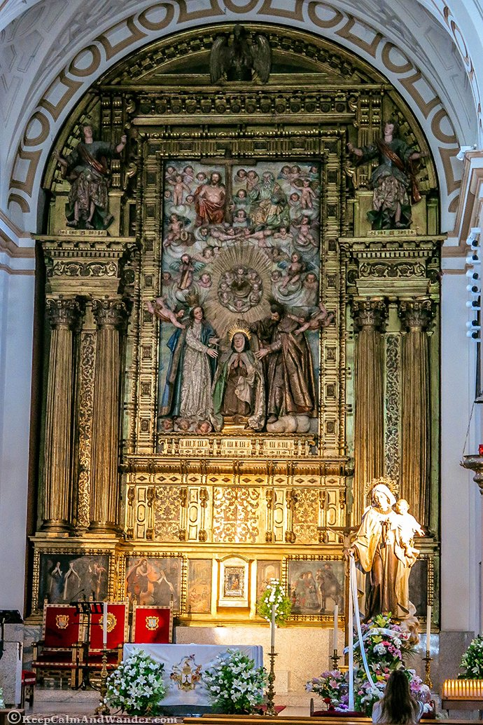 Inside the Convent of St Theresa of Avila (Spain).