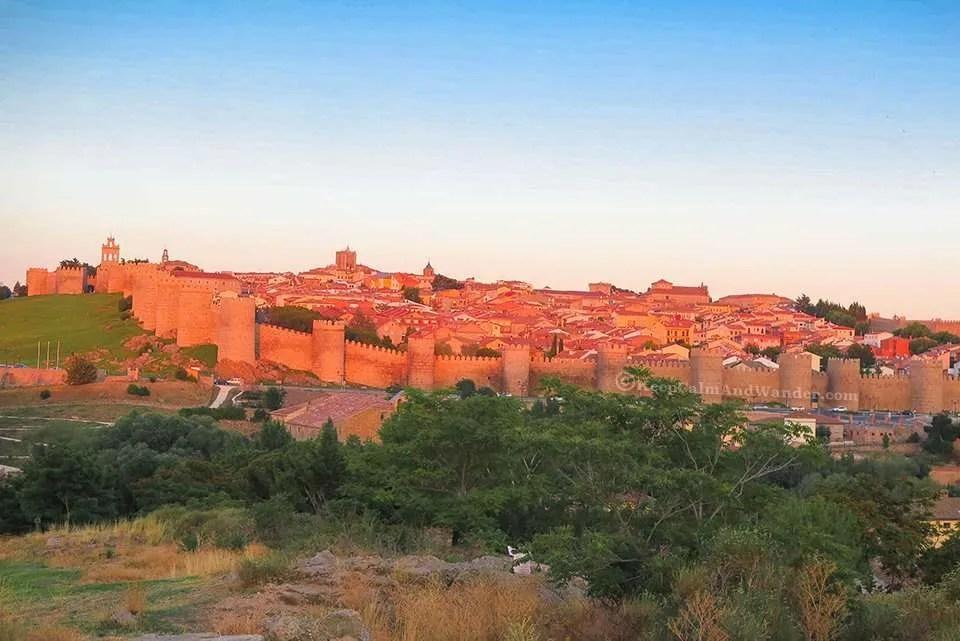 Sunset in Avila, (Spain).