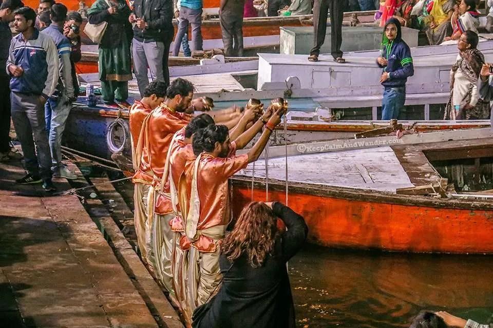 Ganga Aarti at Dashashwamedh Ghat - A Hindu Ritual by the Ganges River