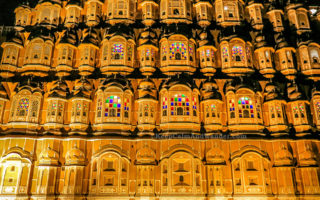 Hawa Mahal at Night (Jaipur, Rajasthan, India)