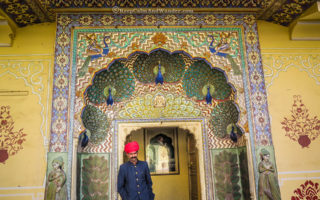 Doors inside Jaipur City Palace (Pink City, Jaipur, India)