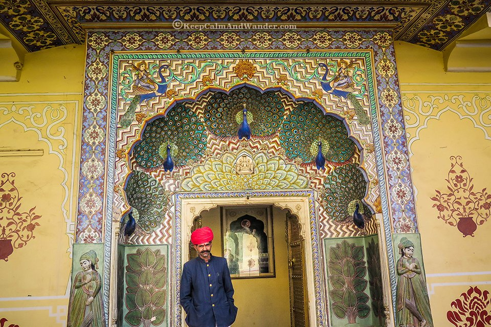 Doors inside Jaipur City Palace (Pink City, Jaipur, India)