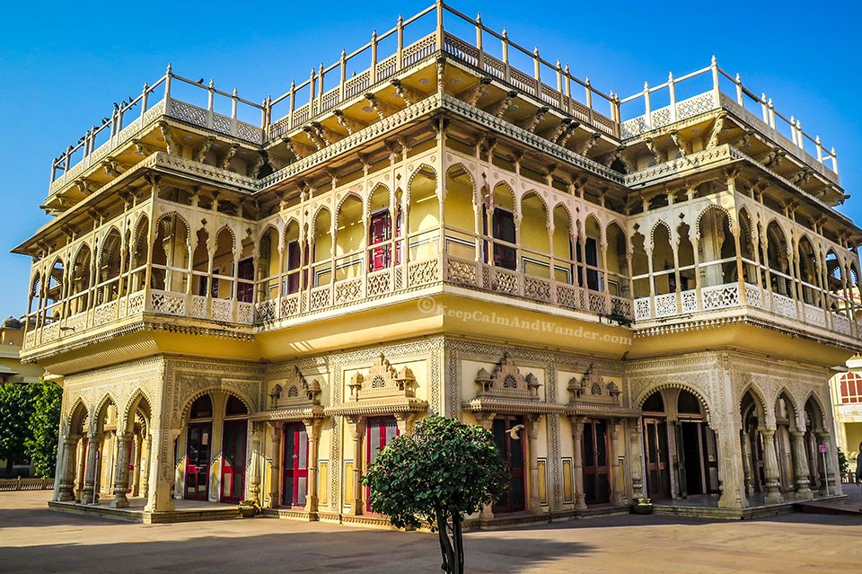 Jaipur City Palace - Your Window to Royal Extravagance (Mubarak Mahal - Pink City, Jaipur, India).