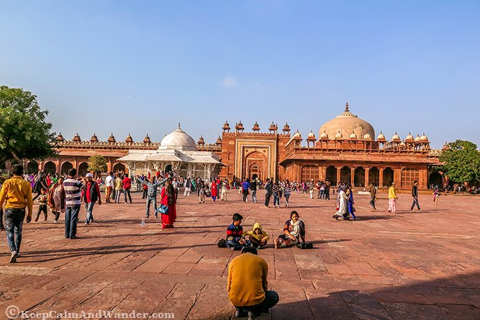 The Beautiful Jama Masjid in Fatehpur Sikri (Agra, India).