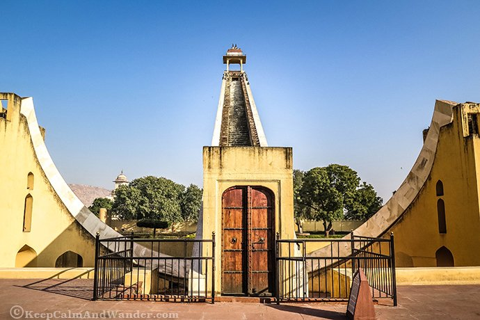 Samrat Yantra inside Jantar Mantar - Where You'll Find the Largest Stone Sundial (India).