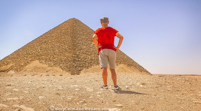 Photos: Inside the Red Pyramid in Cairo (Egypt).