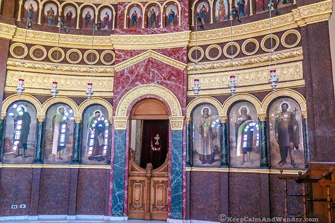 Inside the Church of St. George (Coptic Cairo - Egypt).